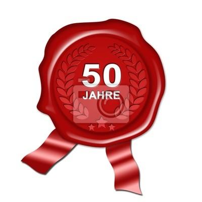 Sticker Jubiläum 50 Jahre Goldene Hochzeit Urkunde Siegel Plakette