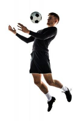 Sticker Junge blonde Mann Fußball spielen