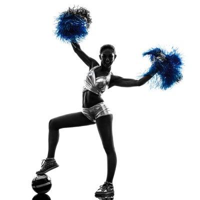 Sticker junge Frau cheerleader Silhouette