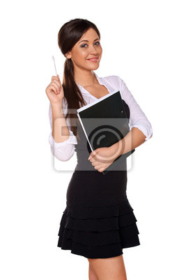 junge Frau sieht aus wie ein Student