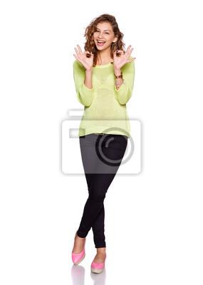 junge Frau smilimg
