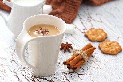 Sticker Kaffee Latte und Schokolade Cookies