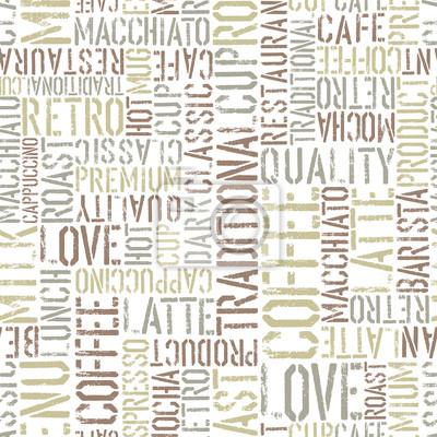 Kaffee nahtlose Muster, Vektor. EPS8