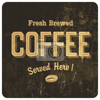Kaffee Vintage Poster. Vektor