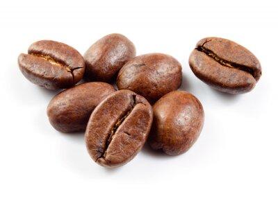 Sticker Kaffeebohnen isoliert