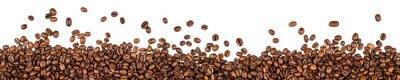 Sticker Kaffeebohnen isoliert auf weißem Hintergrund