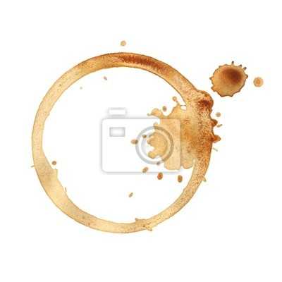 Kaffeetasse Ringe isoliert auf weißem Hintergrund.