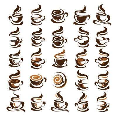 Sticker Kaffeetasse-Vektor