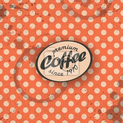 Kaffeethemen Retro-Hintergrund, Vektor. EPS10