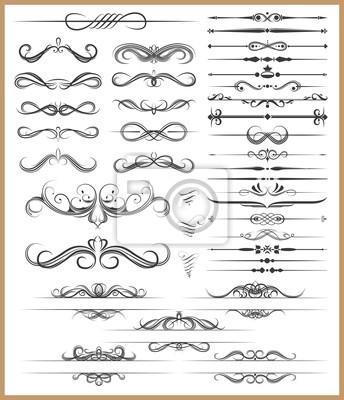 Kalligrafie dekorativen Elementen