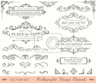 Sticker Kalligraphische Design-Elemente