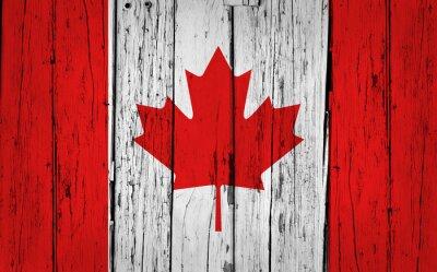 Sticker Kanada-Flagge Grunge Hintergrund