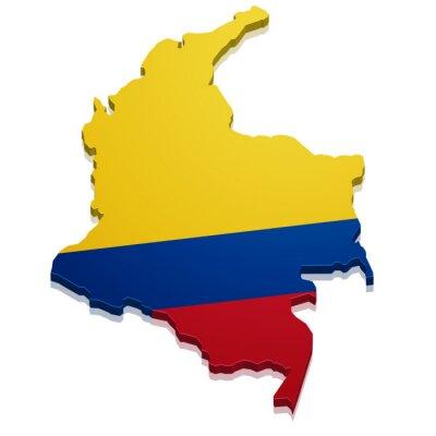 Sticker Karte Kolumbien