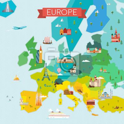 Karte von Europa.
