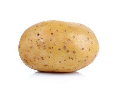 Sticker Kartoffeln auf weißem Hintergrund