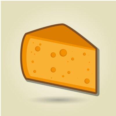 Sticker Käse-Symbol-Design