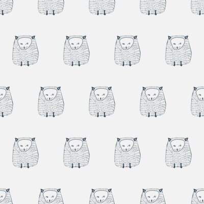 Sticker Katzen nahtlose Muster. Tier Hintergrund. Abbildung