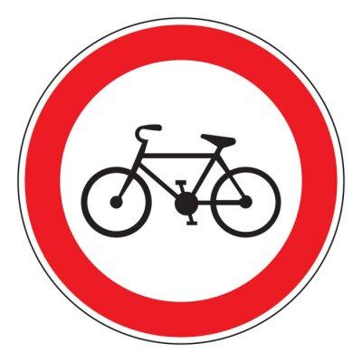 Sticker Kein Fahrrad erlaubt Zeichen