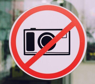 keine fotos unterzeichnen auf dem fenster eines stadtmalls