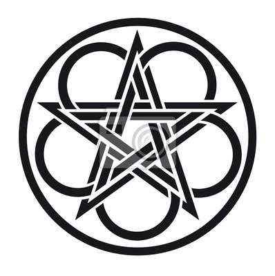 Keltisches Symbol Notebook Sticker Wandsticker Irish Knoten