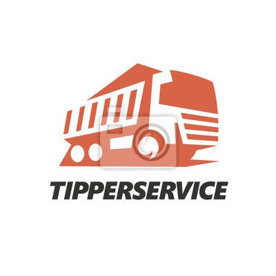 Kipper LKW Logo. Vektor