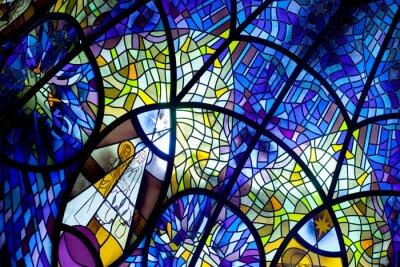 Sticker Kirche Fenster, Glasmalerei