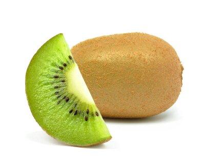 Sticker Kiwi auf einem weißen Hintergrund