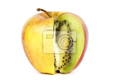 Kiwi in Apfel