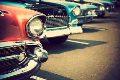 Sticker Klassische Autos in einer Reihe