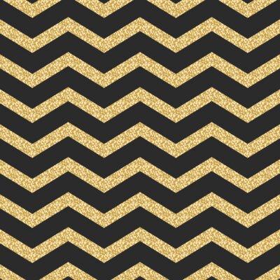 Sticker Klassische Chevron Streifen Glitter Schimmer nahtlose Vektor-Muster.