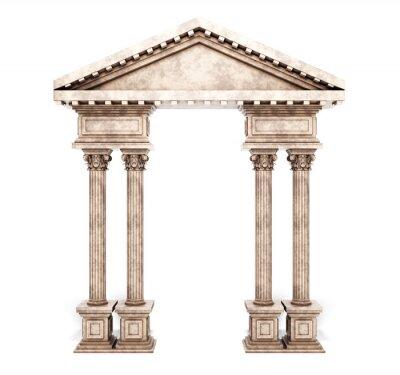 Sticker Klassischer korinthischer Säulenbogen.