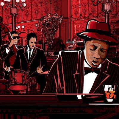 Klavier-Jazz-Band in einem Restaurant