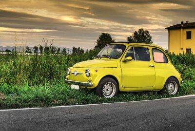 Sticker Kleine vintage italienischen Auto Fiat Abarth