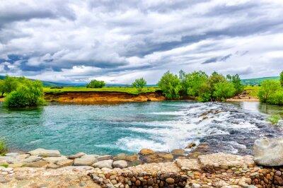 Sticker Kleinen Bach und Wasserfall in das Naturschutzgebiet