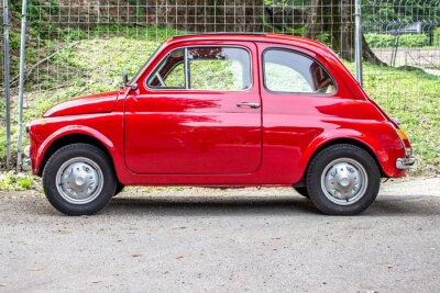Sticker Kleinwagen / kleine rote Auto