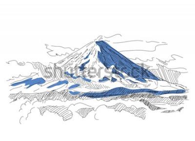 Sticker Klyuchevskaya Sopka. Vulkan. Kamtschatka. Russland