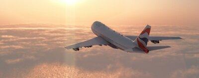 Sticker Kommerzielle Flugzeug