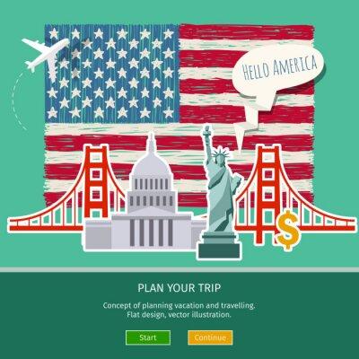 Sticker Konzept des Reisens oder Studiums Englisch.