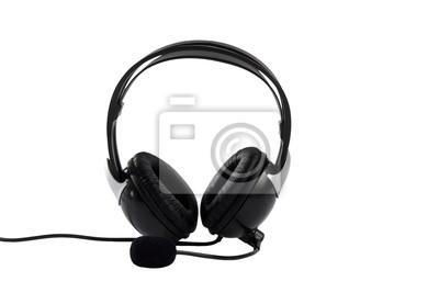 Kopfhörer isoliert auf weißem Hintergrund