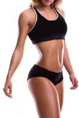 Sticker Körper der Fitness Mädchen
