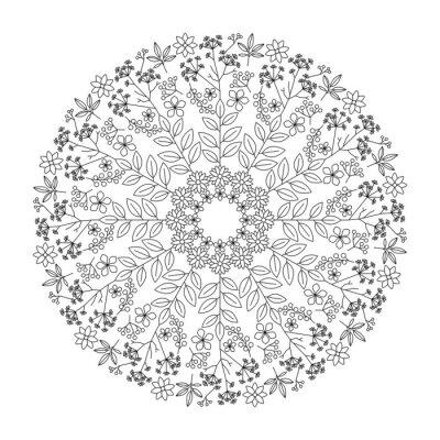 Sticker Kräuter Mandala