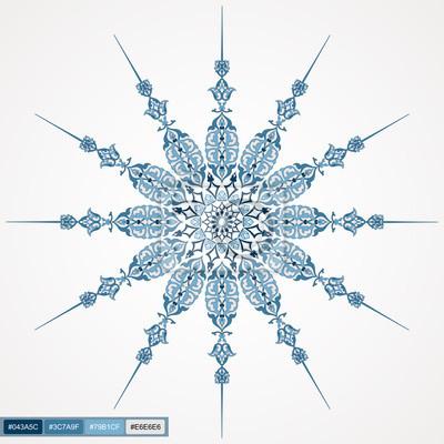 Kreis Spitze Rund Zier-Design 02