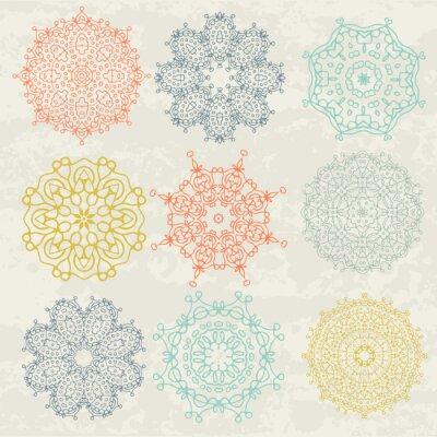 Sticker Kreisförmigen Mustern