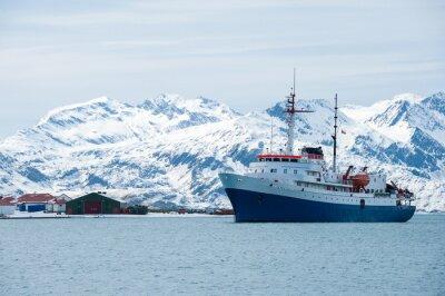 Sticker Kreuzfahrtschiff in der Antarktis