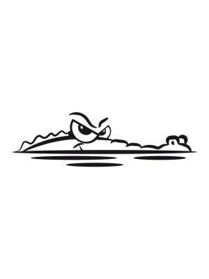 Sticker Krokodil lauren Wasser