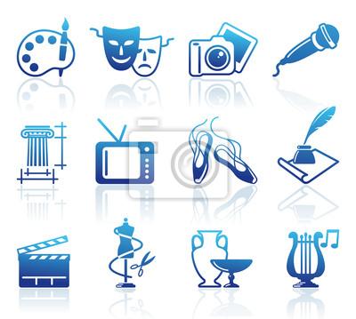 Kultur und Kunst Vektor-Icons