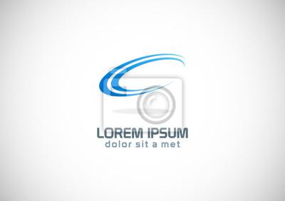 Sticker Kurve oval Schleife Vektor-Logo