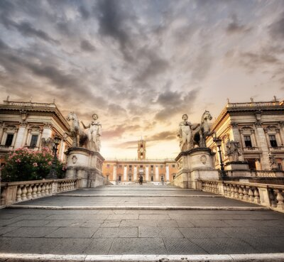 Sticker La scalinata del Campidoglio, Rom