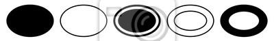 Sticker Label Oval Black | Logo Sticker | Emblem | Icon | Variations