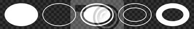 Sticker Label Oval White | Logo Sticker | Emblem | Icon | Variations